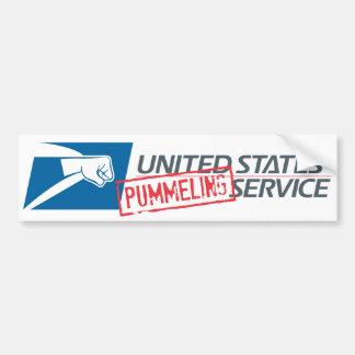 United States Pummeling Service Car Bumper Sticker