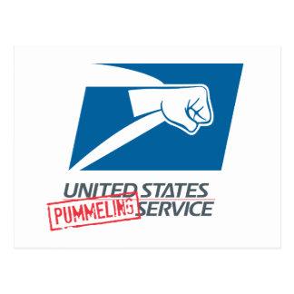 United States Pummeling Service Postcard