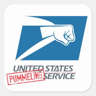 United States Pummeling Service Square Sticker