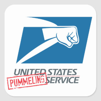 United States Pummeling Service Square Sticker