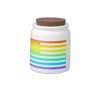 united states rainbow flag candy jars
