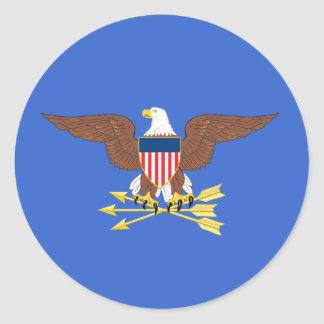 United States Secretary of Defense Round Stickers