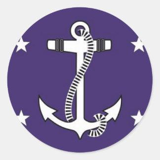 United States Secretary of the Navy Round Sticker
