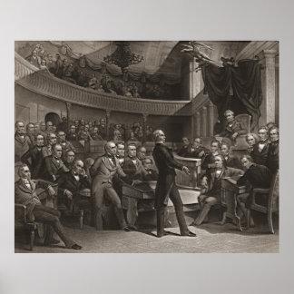 United States Senate 1850 Poster