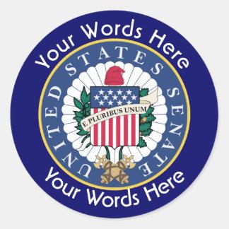 United States Senate Custom Sticker