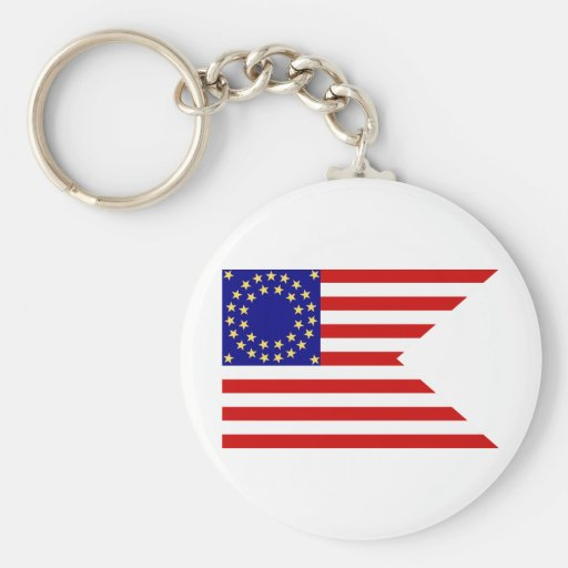 United States Seventh Cavalry Battle Guidon Flag Key Chain
