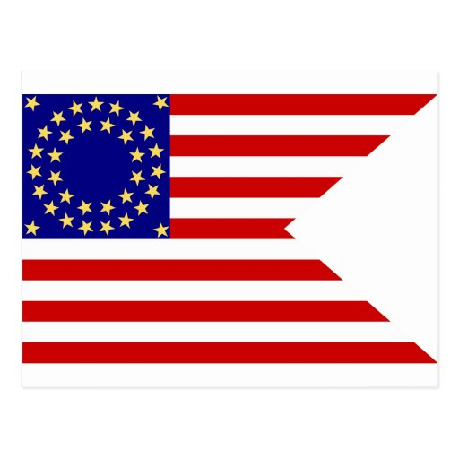 United States Seventh Cavalry Battle Guidon Flag Postcard