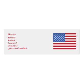 United States - Skinny Business Card Templates