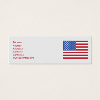 United States - Skinny Mini Business Card