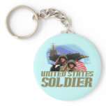 United States Soldier Tshirts and Gifts Keychain