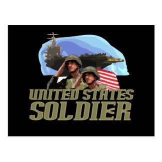 United States Soldier Tshirts and Gifts Postcard