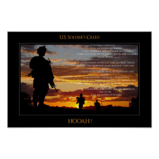 United States Soldier's Creed Poster