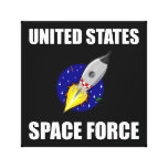 United States Space Force Funny Canvas Print