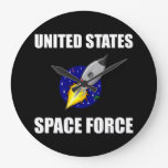 United States Space Force Funny Large Clock