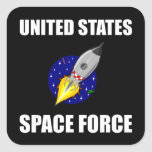 United States Space Force Funny Square Sticker