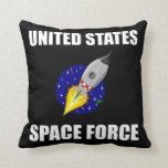United States Space Force Funny Throw Pillow