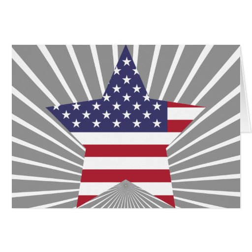 United+States Star Greeting Card
