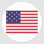 United States Star Spangled Banner Flag Classic Round Sticker