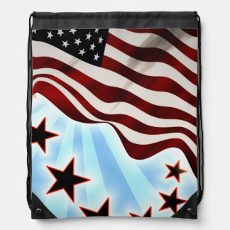 United states stars and stripes drawstring bag
