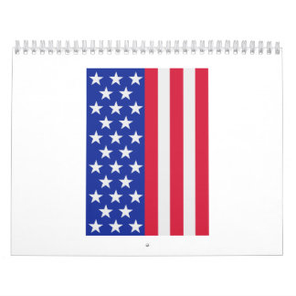 United states stars and stripes flag calendar