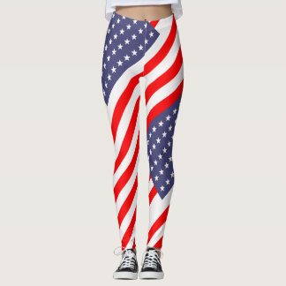 United States Stars and Stripes Flag Leggings