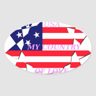 United States Oval Sticker