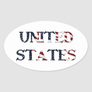 United States Oval Stickers