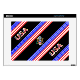 United States stripes flag Laptop Decals