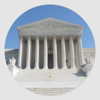 United States Supreme Court Building Classic Round Sticker