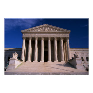 United States Supreme Court Building Poster
