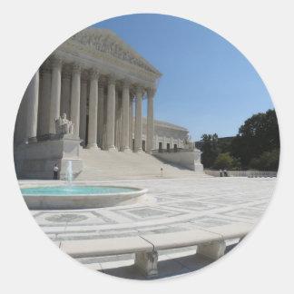 United States Supreme Court Building Round Sticker