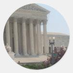 United States Supreme Court Classic Round Sticker
