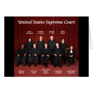 United States Supreme Court Justices Greeting Card