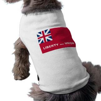 United States Taunton Flag Liberty and Union 1774 Doggie T-shirt