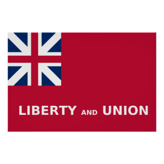United States Taunton Flag Liberty and Union 1774 Poster