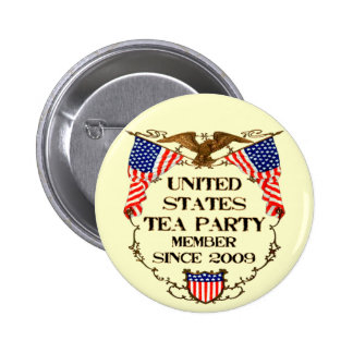 United States Tea Party 2 Inch Round Button