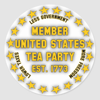 United States Tea Party Classic Round Sticker