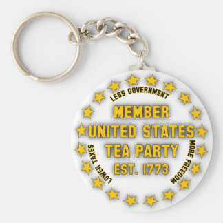 United States Tea Party Key Chain