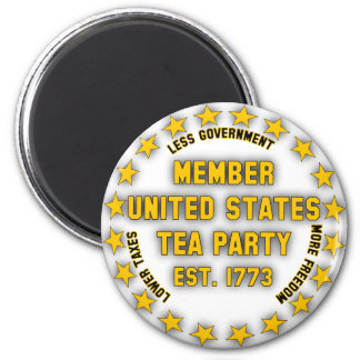 United States Tea Party 2 Inch Round Magnet