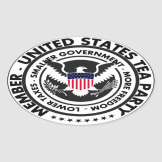 United States Tea Party Oval Sticker