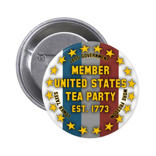 United States Tea Party Pinback Buttons