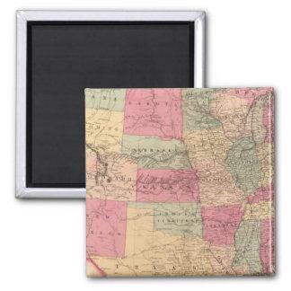United States & territories 2 Inch Square Magnet