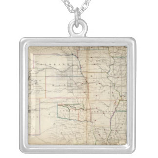 United States, Territories Silver Plated Necklace