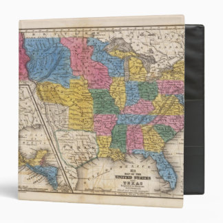 United States Texas Mexico and Guatimala Vinyl Binder