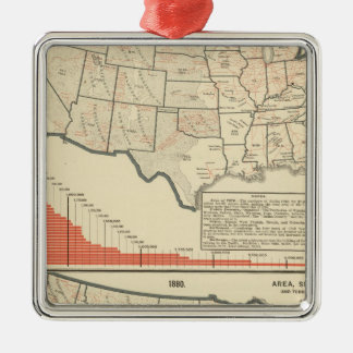 United States Thematic maps Christmas Tree Ornaments