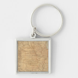 United States topographical features Keychains