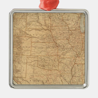 United States topographical features Christmas Tree Ornament