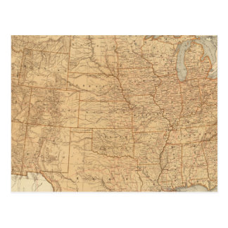 United States topographical features Postcard