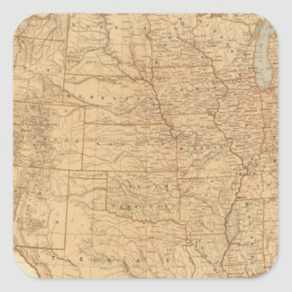 United States topographical features Sticker