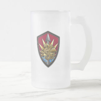 United States Transportation Command Frosted Glass Beer Mug
